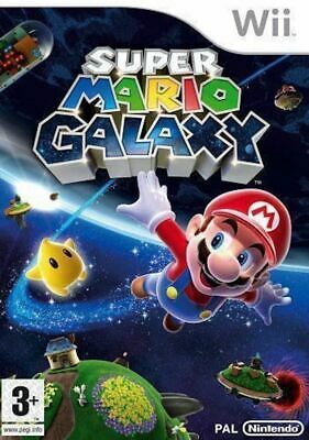 Wii - Super Mario Galaxy - Boxed With Manual - in good condition