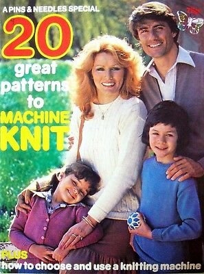 A Pins & Needles Special 1978 - 20 GREAT PATTERNS TO MACHINE KNIT -  VGC