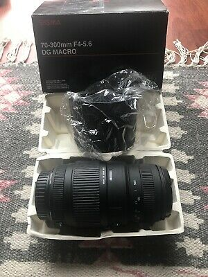 Sigma 70-300mm f/4-5.6 Macro Canon Mount. EXCELLENT condition.