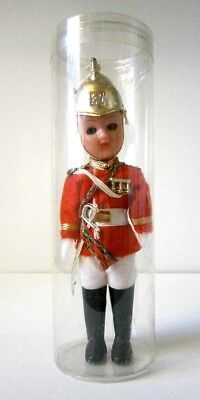 VINTAGE HARD PLASTIC COSTUME DOLL QUEENS LIFE GUARD MINT in CYLINDER