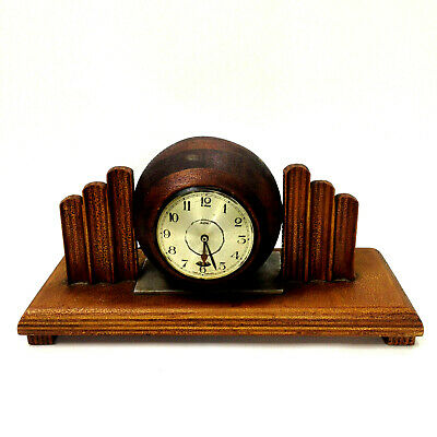Vintage Art Deco SMITH Electric Mantel Ball CLOCK For Repair English Made