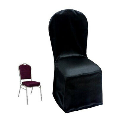 Magnificent 10 Black Polyester Satin Banquet Chair Covers Wedding Alphanode Cool Chair Designs And Ideas Alphanodeonline