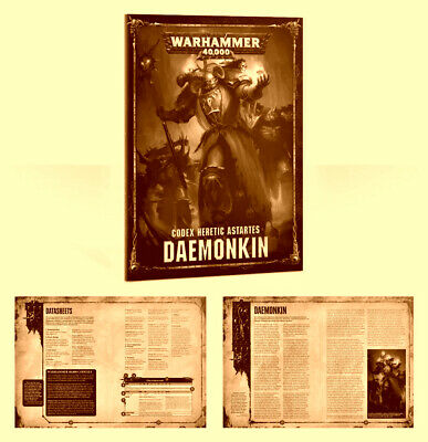 Codex: Daemonkin, Daemonkin Chaos Space Marines, Warhammer 40k, Shadowspear.