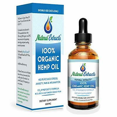 600MG Organic Full Spectrum Hemp Oil Tincture for Dogs and Cats