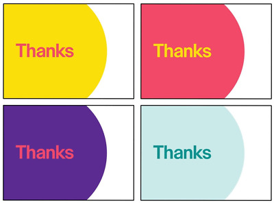 """NEW eBay-Branded THANK YOU POSTCARDS 5.5"""" x 4"""" Multi-Pack 4 Colors 25 Each Color"""