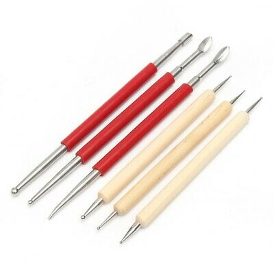 6Pcs Leather Craft Modelling Spoon Carving Stylus Tool Set