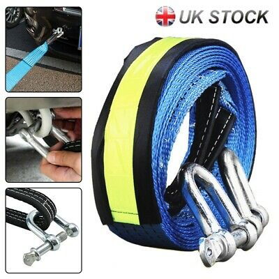 8T Heavy Duty Tow Rope Towing Pull Strap Winch Tree Strop Offroad Recovery Tool