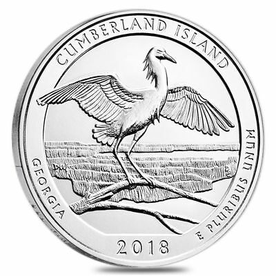 2018 5 oz Silver ATB Cumberland Is Nat'l Seashore, GA  WITH NEW Air-Tite Holder