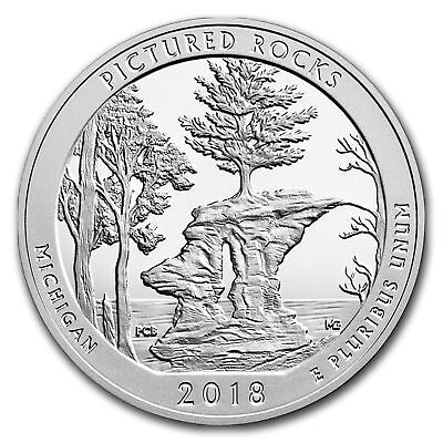 2018 5 oz Silver ATB Pictured Rocks Nat'l Lakeshore, MI With NEW Air-Tite Holder