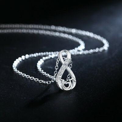 fashion 925 silver charms MOM crystal necklace jewelry cute women wedding party