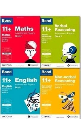 Bond 11+ Plus 9-10 Year Assessment Papers 4 Books English Maths Verbal Non Verba