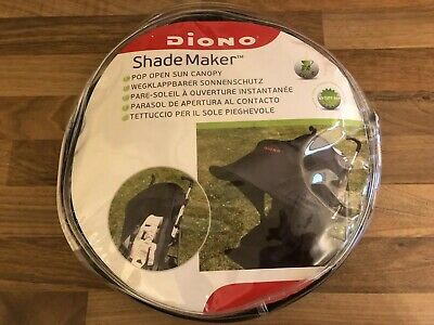 Diono Pop Open Sun Canopy Shade Maker For Buggy Universal Fit Pushchair Black