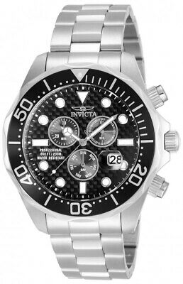 Invicta Pro Diver Chronograph Black Dial Stainless Steel Men's Watch 12568