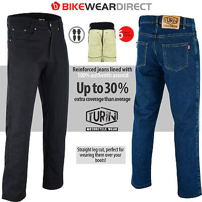 Motorbike Motorcycle Jeans Trousers Made With KEVLAR® Protective Biker Armoured