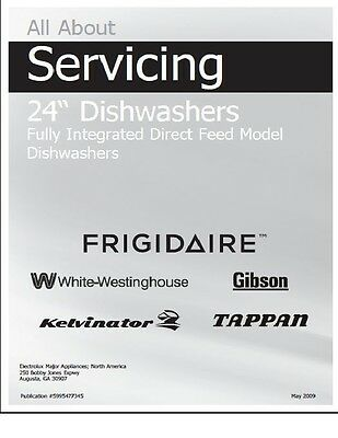 REPAIR MANUAL: ELECTROLUX Dishwashers (Choice of 1 manual,see description  below)