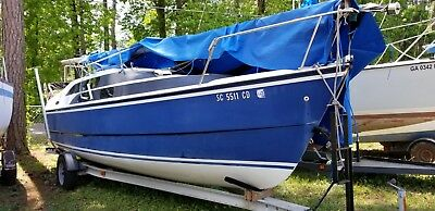 MacGregor 26M sailboat with 50hp honda power + aluminum trailer excellent