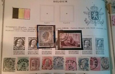 Stamp lot large Belgium lot 1800's-early 1900's see scans and $$$