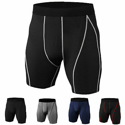 Men's Compression Shorts Running Basketball Gym Bottoms Cool Dry Slim fit Tights