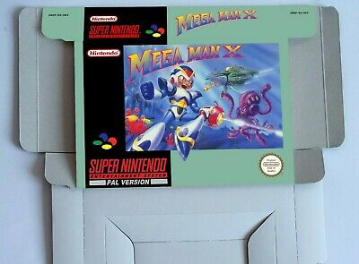 MEGA MAN X  - Repro box with insert - NTSC/ PAL - SNES.