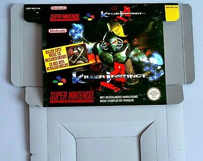 Killer Instinct  - Repro box with insert - NTSC/ PAL - SNES.