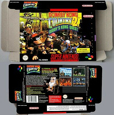 Donkey Kong Country 2  - Repro box with insert - NTSC/ PAL or Australian - SNES.