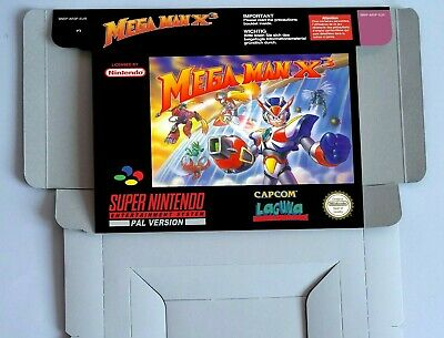 MEGA MAN X3  - Repro box with insert - NTSC/ PAL - SNES.