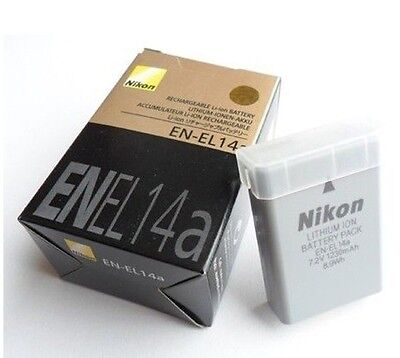 Camera 1230mAh Nikon EN-EL14A Battery For D3100 D3200 D3300 D3400 D5200 D5300