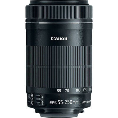 Canon EF-S 55-250mm f/4-5.6 IS STM Telephoto Zoom Lens - (UK Stock)