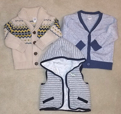 Baby Gap Boy 3 Sweaters 12-18 mos
