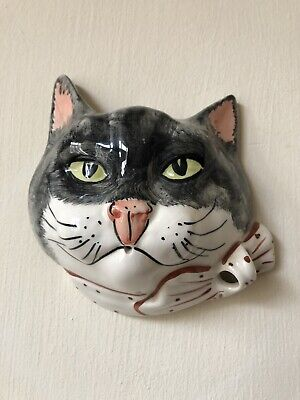 Vintage Babbacombe Pottery Wall Cat String Dispenser