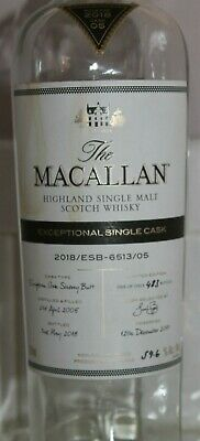 Rare The Macallan Exceptional Cask Limited Edition Scotch Whisky Empty Bottle