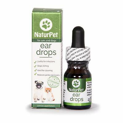 NEW NaturPet Ear Drops | Natural Ear Infection Medicine For Dogs Ear Mites Cats