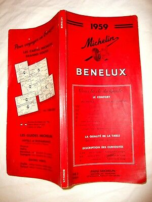 GUIDE MICHELIN BENELUX 1959. GUIDE ROUGE. F indiqué