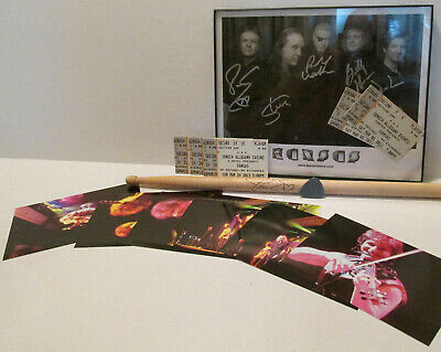 KANSAS (the band) Signed Autograph 8x10 Photo by Members Drum stick pic tickets+