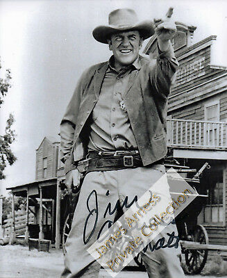 "James Arness Gunsmoke Marshal Dillon ""Hold It"" Signed    8 x 10"