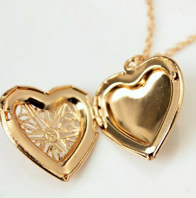 1pc Women Lady Gift Gold Hollow Charm Collar Chain Pendant Necklace Heart
