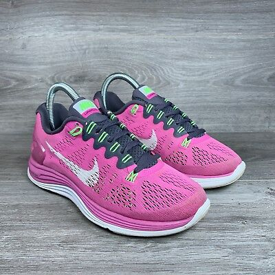 online store 028e7 cd7be NIKE LUNARGLIDE 5 Women's Running Shoes 599395-610 Training Pink Size 6 US