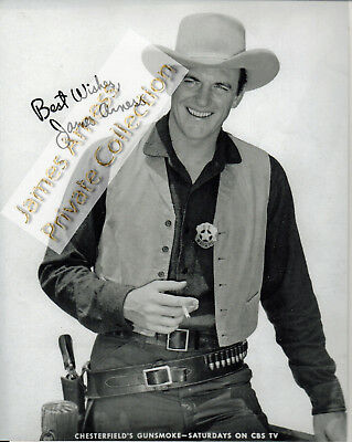 James Arness Gunsmoke Marshal Dillon Signed Chesterfield Sponsor  Promo  8 x 10