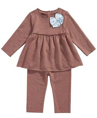 New First Impressions  Baby Girls  2-Pc. Bow Tunic & Leggings Set MSRP $48.00