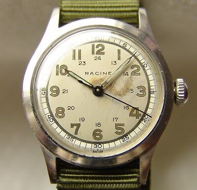 MEN'S military WWII period GALLET GOOD CONDITION WRISTWATCH pre-1949