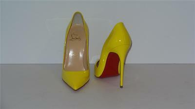 20f34ce4d055  675 Christian Louboutin So Kate 120 Patent Leather Yellow Pumps Heels Size  35