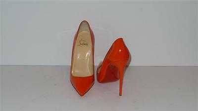 e9d53aa6c432  675 Christian Louboutin So Kate 120 Patent Leather Orange Pumps Heels Size  35.5