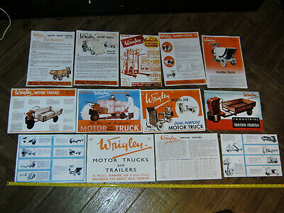 Wrigley 3 Wheel Motor Truck Photocopy Ads Wessex Industries Tipper Villiers Tug