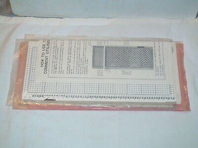 Knitting Machine Accessory: Brother Style Blank Punch Cards Pack Of 10