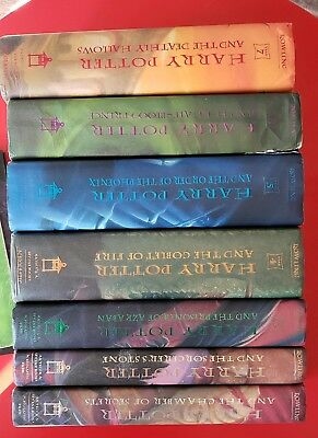 HARRY POTTER Complete Hardcover Set 1-7 HB/DJ 4 COLLECTIBLE FIRST PRINTINGS