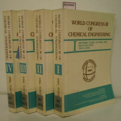 World Congress III of Chemical Engineering, September 21 (Sun) - 25 (Thur), 1986