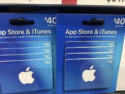 App Store & iTunes Gift Cards - Design May Vary Standard 40$ New
