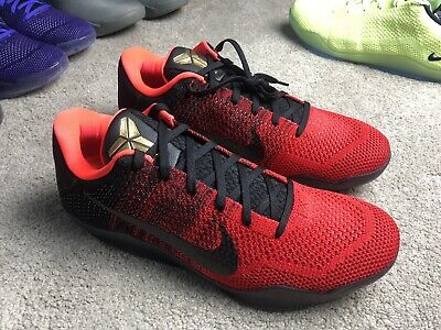 f8a9bc377a25 NIKE KOBE XI 11 ELITE LOW ACHILLES HEEL RED GOLD BLACK 822675-670 Size 13