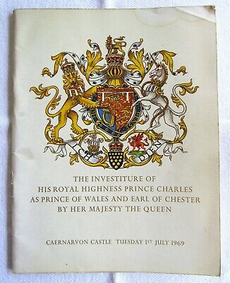 The Investiture of HRH Prince Charles, 1 July 1969, Souvenir Brochure