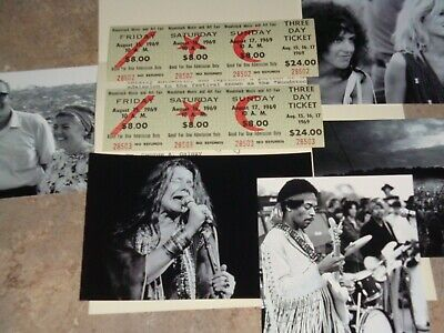 2 WOODSTOCK  AUTHENTIC 3 DAY 1969 TICKETS MUSIC Jimi Hendrix Grateful Dead CSNY